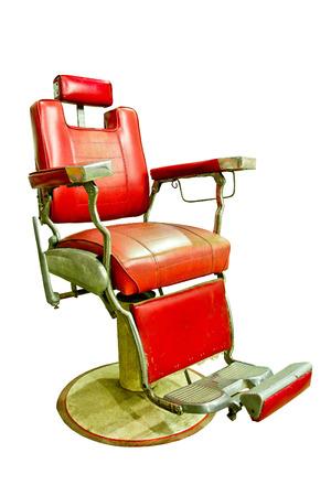 barber shop: Barber Shop met Ouderwetse Chrome stoel