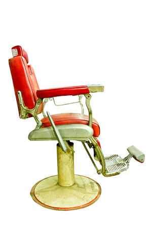 Barber Shop with Old Fashioned Chrome chair Stock Photo - 22537452