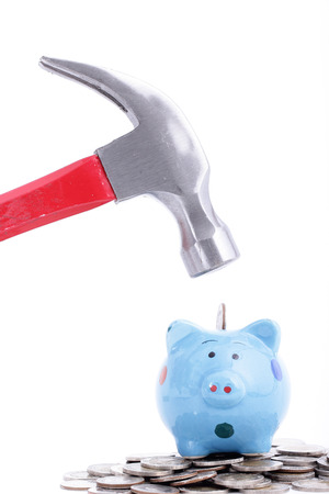 Hold Hammer for refinance or refunds your money to use something photo