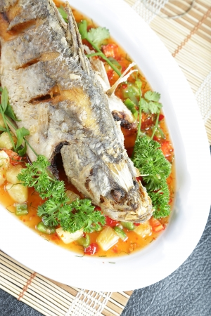 sweet course: Deep fried Snapper with Sweet Chilli