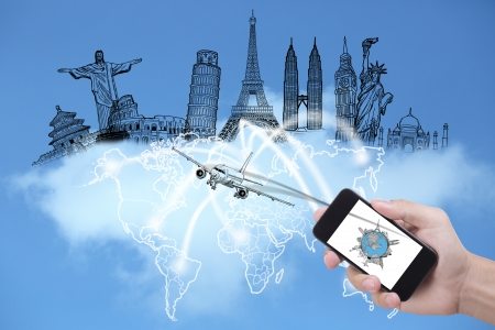 Smart phone for check in for your travel around the world for good avanture and business