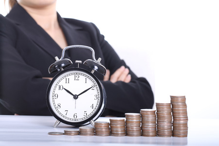 Time is Money ,wait for money growth Stock Photo