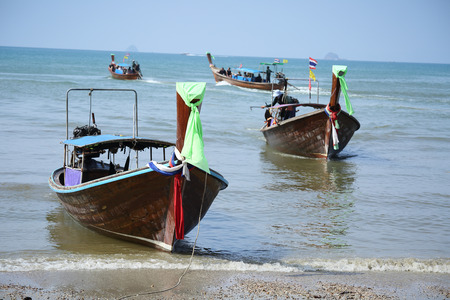 long tailed boat: Thai Long tailed boat in Thailand beach