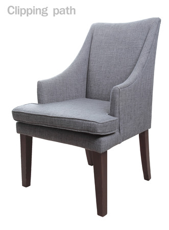 upholster: Close up Luxury Arm Chair with Clipping path