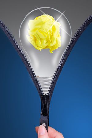 Open your idea lamp for new thing photo