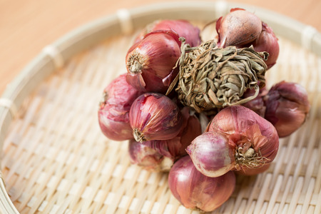Shallot onions spicy food with white background