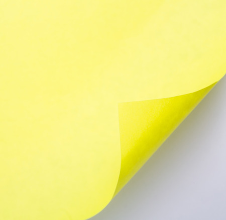 conner: Open conner of yellow paper for add your text