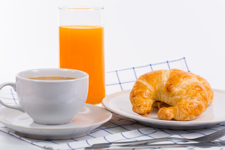 breakfast food: Close up Croissants breakfast food with white background