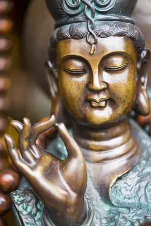 idolatry: Golden Buddha ,peaceful religious in Aisa Temple