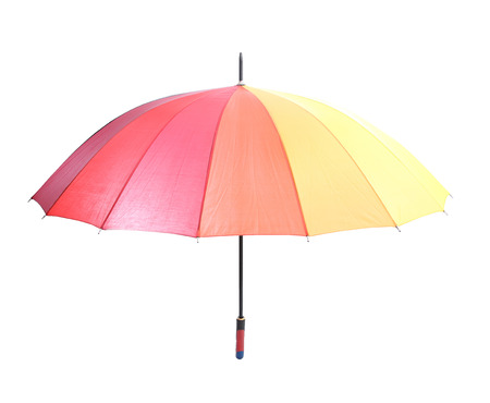 Close up Rainbow colorful umbrella with Clipping path  photo