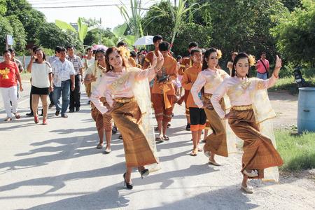 fingers put together: NAKRONPHATHUM THAILAND -JULY 6: Wedding ceremony July 6 2014, Thai wedding ceremony  parade culture  in Nakronphathum ,Thailand.