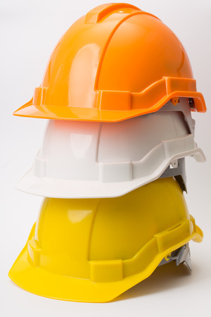 Safety helmet isolated with white background