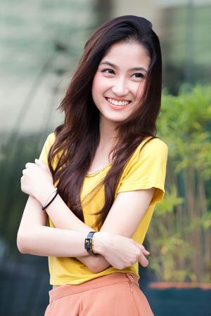 Portrait beautiful Asian Girl with wonderful concept Standard-Bild
