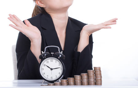 managing money: Time is Money ,wait for money growth Stock Photo