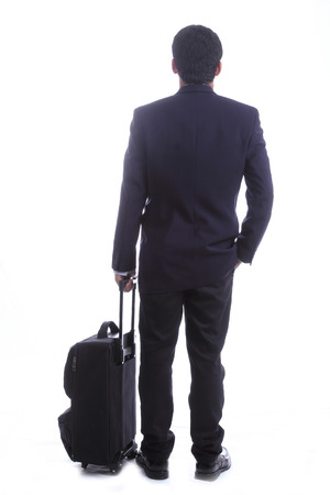 business travellers Standing for wait something in the Airport photo