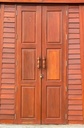 Thailand traditional  Old Door in the outdoor photo