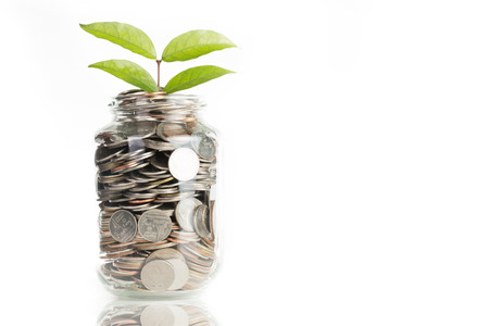 Deposit your budget for investment in the future Stok Fotoğraf