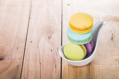 Macaroon sweet dessert french cuisine style for coffee brea Stock Photo