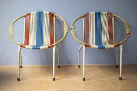 Retro classic Chinese chair style in home photo