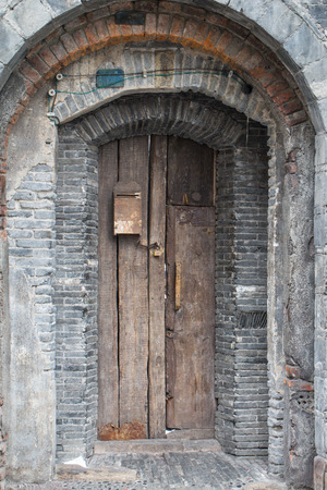 Chinese   traditional Old Door in the outdoor photo