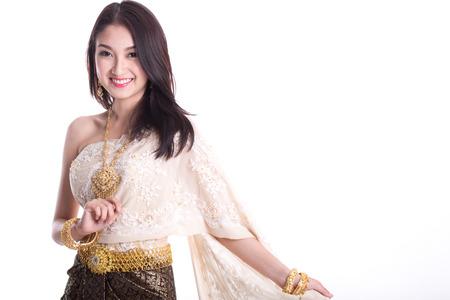 Thai women weared thai traditional dress photo