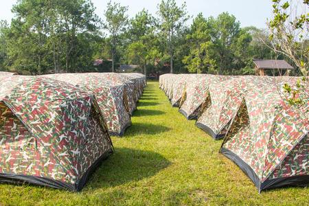 phukradueng: Tent in Phukradueng National Park ,Thailand National park
