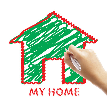 possessive: My home concept wrote and building your home