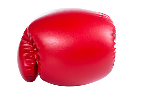 Boxing gloves  punch with white background