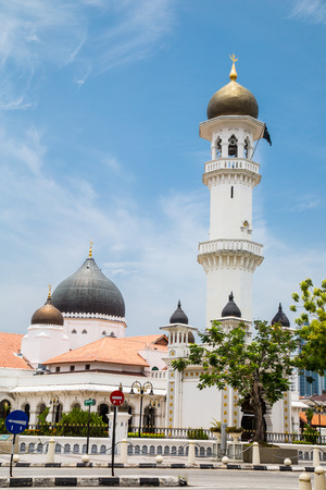 pulau: Kapitan keling mosque place of muslim religion of Islam in Penang Malaysia