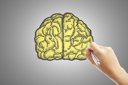 pondering: Write your brain and idea with hand