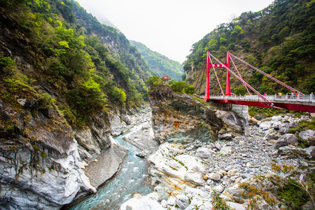 Taroko national park with High-dynamic-range in Taiwan. Stock Photo