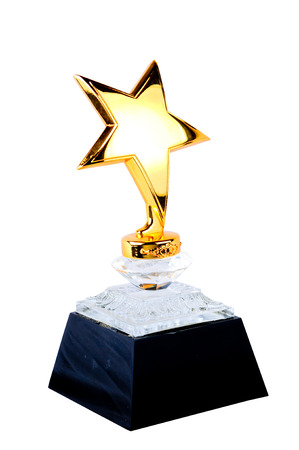 Award Star for you winner people with clipping path
