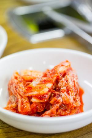 korea food: Kimchi korea food on the table Stock Photo