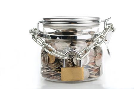 Sparen Sie Geld, sperren Sie Ihr Budget für die Zukunft.