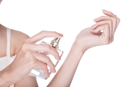 perfume woman: Apply Perfume woman with white background