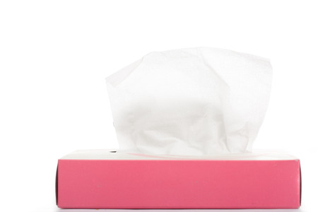 withe background: tissue box withe background