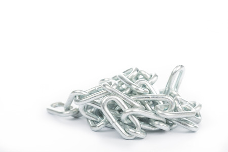 linkage: Chain on the white background. Stock Photo