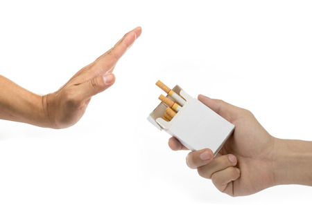 badly: No smoke and stop your badly health with white background
