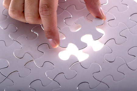 Jigsaw puzzle piece ,complete your mission