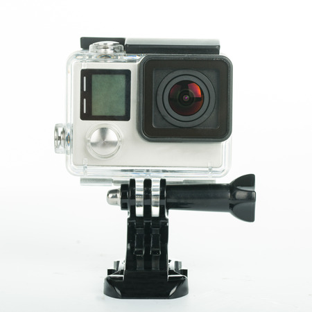vdo: Action camera with white background