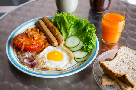 bacon love: Thai style breakfast with egg in the morning