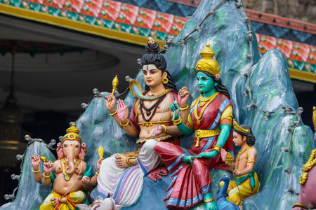 gods: Hindu gods status in Malaysia. Stock Photo