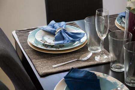 prepare: Dish set for prepare customer to use. Stock Photo