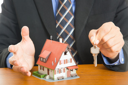 Businessman plan and suggest for  good property with real agency property concept.