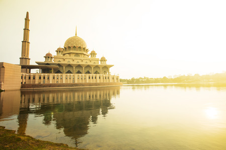 Putrajaya Mosque Malaysia in Twilight time.
