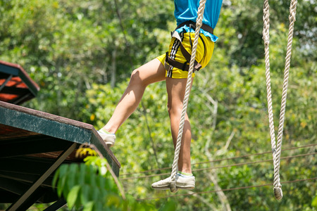 walk away: Extreme sport walk away to another place Stock Photo
