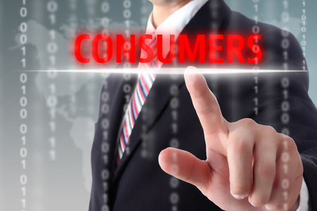 consumers: Touch  information for consumers with your finger.