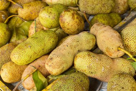 integer: Cempedak or Ripe Artocarpus integer fruits in fresh market.