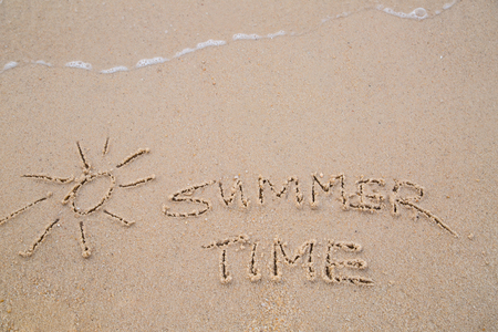 wrote: Summer Time  text wrote for summer holiday concept
