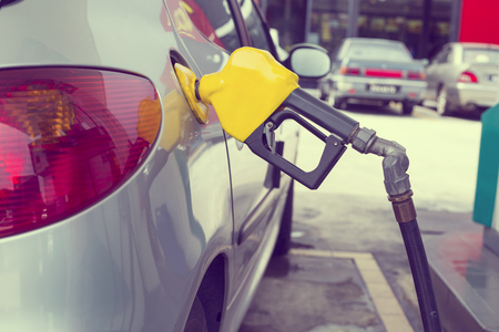 fuel tank: Fuel Station ,trasportation self service energy concept. Stock Photo